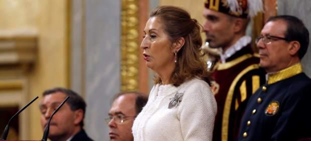 La presidenta del Congreso Ana Pastor, interviene en el acto de conmemoración del cuarenta aniversario de la Constitución