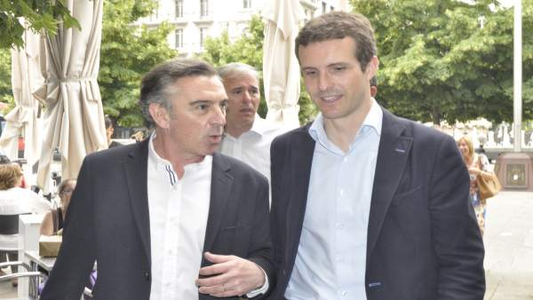 Pablo Casado y Luis María Beamonte (PP).
