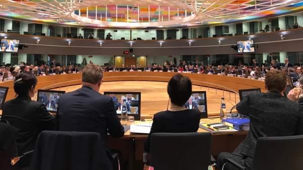 Reunión de los ministros de Empleo de la UE, en Bruselas.