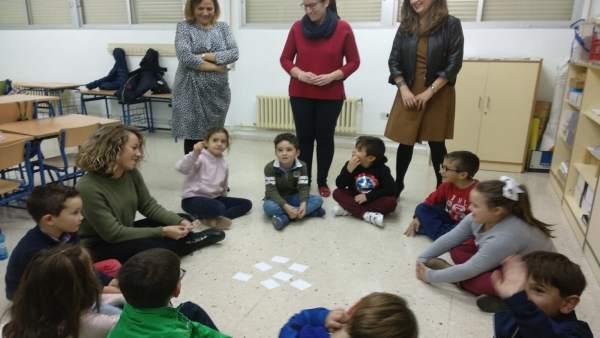 Visita a actividades del programa PALE en el colegio de Fuensanta de Martos.