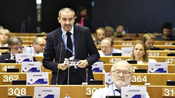 El director general de Unión Europea, Manuel Pleguezuelo en Bruselas