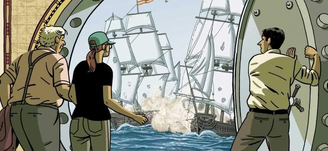 Detalle de la cubierta de 'El tesoro del Cisne Negro'.