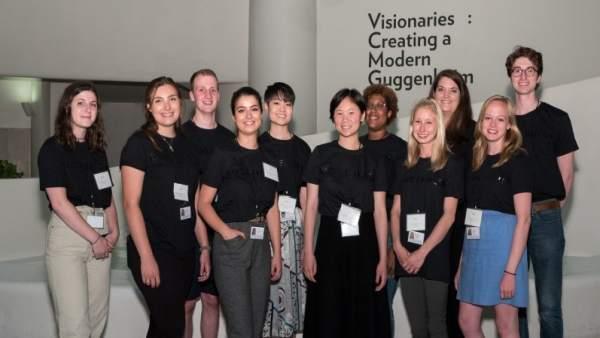 Participantes en las prácticas en el Guggenheim Nueva York.