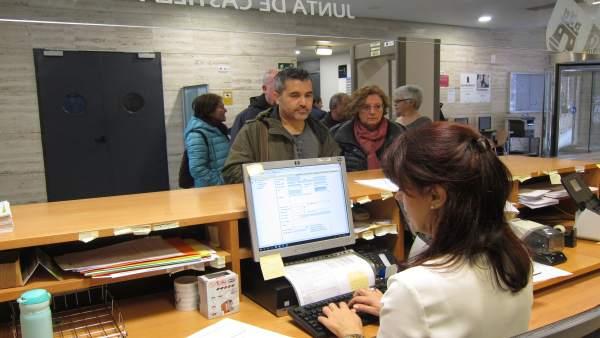 Presentación del documento en el registro de la Consejerá de Sanidad