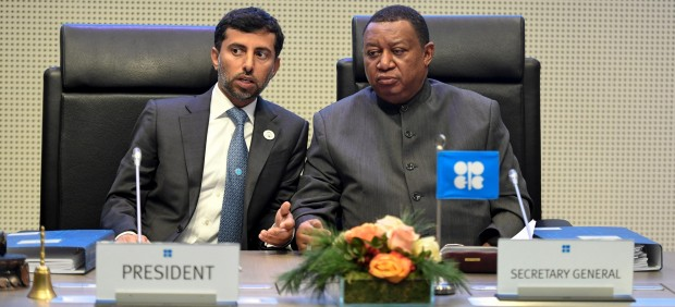 La OPEP y sus aliados deciden reducir su producción de crudo en 1,2 millones de barriles diarios