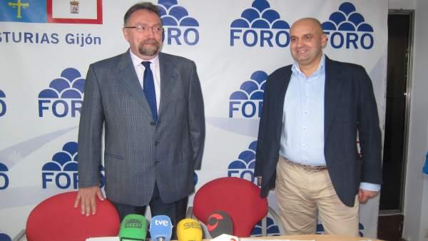 Isidro Martínez Oblanca y Pedro Leal