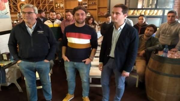 Mariano Marín, Andrés Ruíz y David González Medina.
