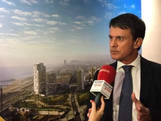 Manuel Valls en una entrevista de Europa Press