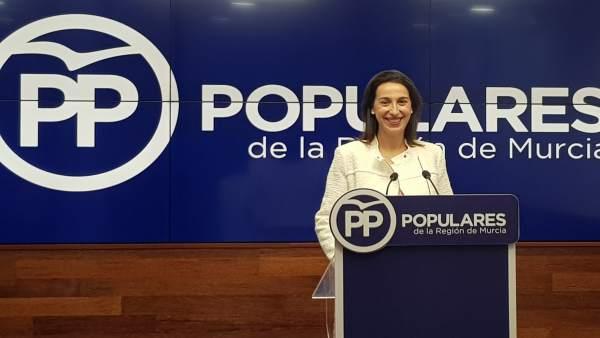 La portavoz regional del Partido Popular de la Región de Murcia, Nuria Fuentes