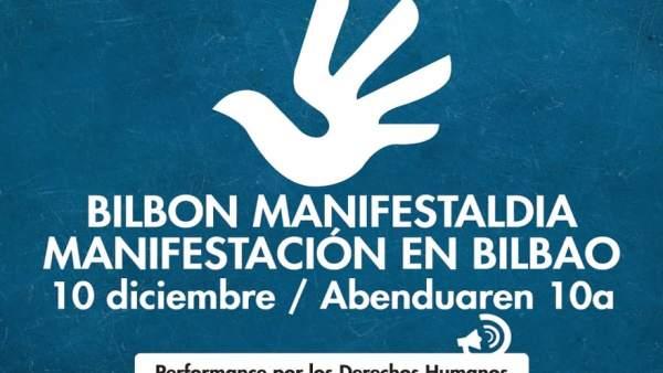 Manifestación Bilbao Día Mundial de los Derechos Humanos.
