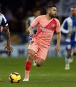 Jordi Alba, frente al Espanyol con la camiseta del Barça.