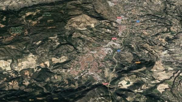 Localización de Alcoi (Alicante)