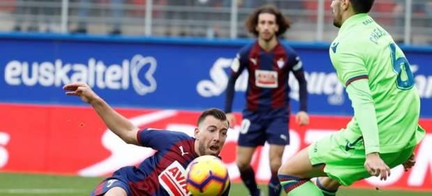 Empate entre Eibar y Levante en un partidazo con ocho goles