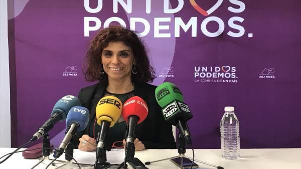 La secretaria general de Podemos Cantabria, Rosana Alonso