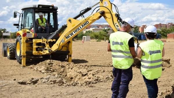Trabajadores del sector de la construcción.