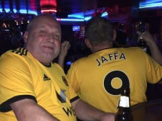 Steve Horton, aficionado del Wolverhampton.