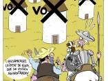 Vox en el 'Quijote', viñeta de Asier.