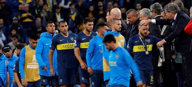 Deportividad también en el césped: los jugadores de River consolaron a los de Boca