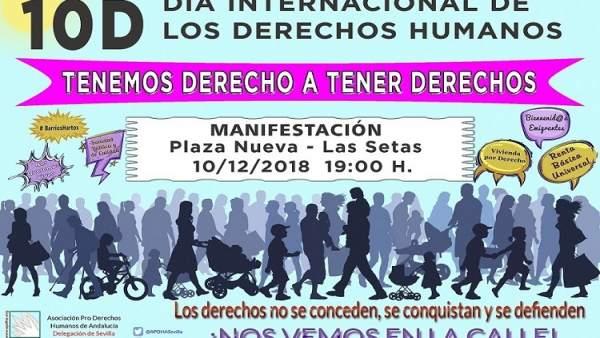 Manifestación por el Día Interncional de los Derechos Humanos