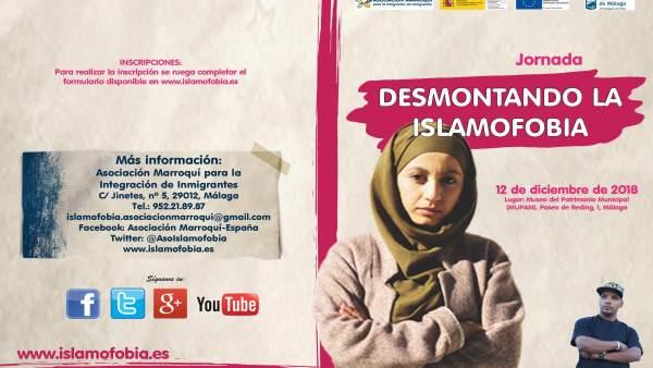 Díptico de la jornada 'Desmotando la islamofobia'