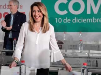 """Susana Díaz: """"Al PSOE no lo va a poner nadie de rodillas, ganó las elecciones"""""""