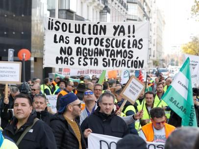 Manifestación convocada por la Asociación de Examinadores de Tráfico (Asextra)