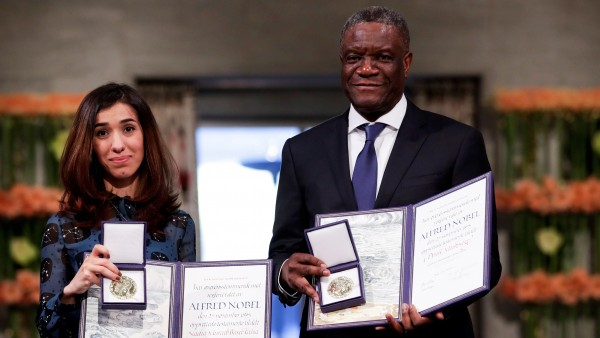 Mukwege y Murad recogen Nobel de la Paz