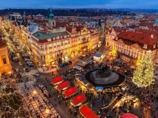 Christmas market en Praga