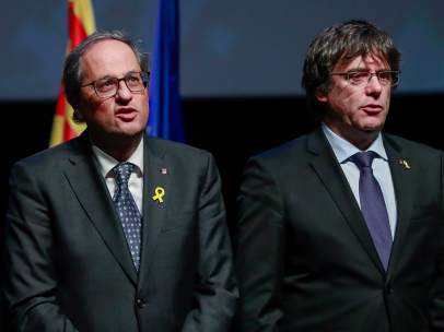 Torra y Puigdemont.
