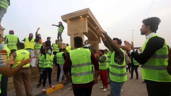 Manifestación de 'chlaecos amarillos' en Irak