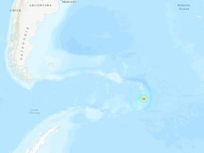 Terremoto cerca de la Antártida