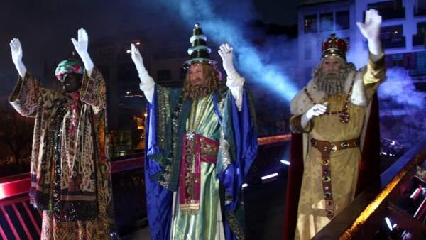 Los tres Reyes Magos de Girona en una imagen de archivo.