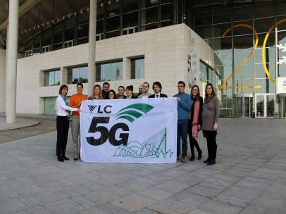 HISSAT DE LA BANDERA DEL VLC 5G GLOBAL EVENT