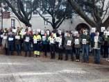 Concentración de trabajadores de las oficinas municipales de Huesca