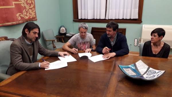 DPZ y sindicatos han firmado hoy el acuerdo sobre las condiciones laborales
