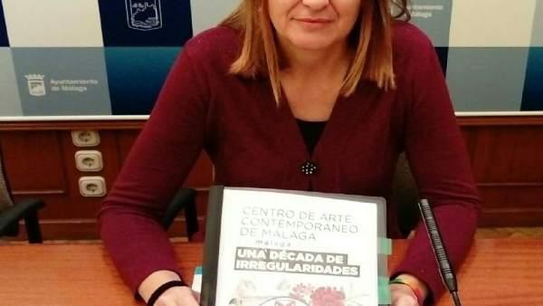 Portavoz de Málaga Ahora, Ysabel Torralbo, en rueda de prensa
