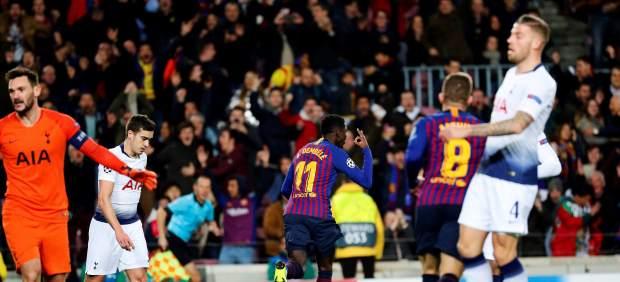 El Tottenham se clasifica tras empatar con el Barça en el Camp Nou