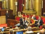 El presidente de la Generalitat, Quim Torra, en la sesión de control del Parlament.