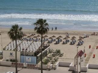 Chiringuito en la playa de Cádiz