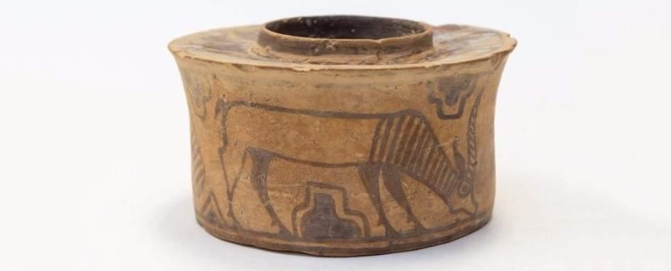 Vaso de cerámica de 4.000 años de antigüedad