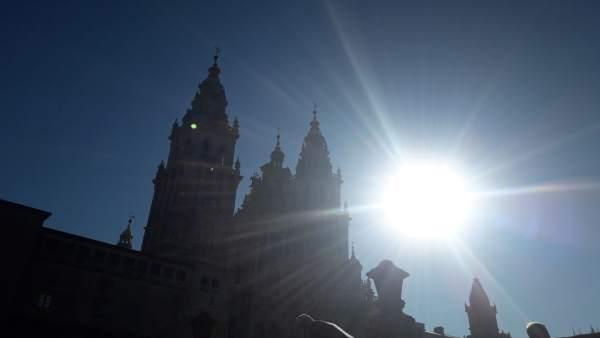 Día de sol en Santiago de Compostela