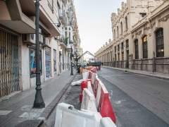 Obras del carril bici en la calle Alicante