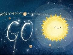 Doodle de Google celebrando las gemínidas