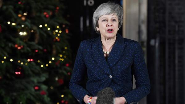 Theresa May, después de la moción de confianza
