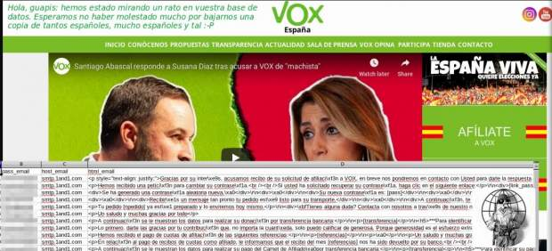 Anonymous hackea la web de Vox y accede a los datos de 30.000 usuarios