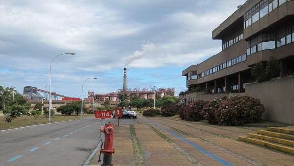 Fábrica de Alcoa en San Cibrao, en Cervo (Lugo)