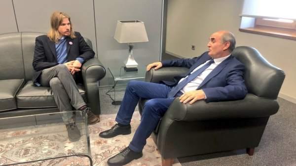 Pablo Fernández y Tomás Quintana durante la reunión.