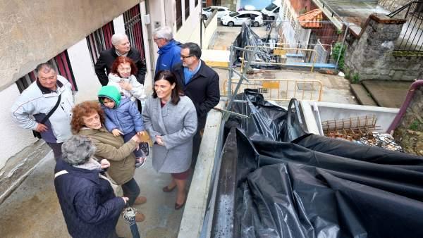 La alcaldesa, Gema Igual, visita las obras