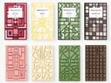 Tableta de chocolate basada en planos de ciudades