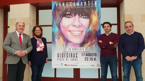 Presentación del concierto de Vanesa Martín en Algeciras